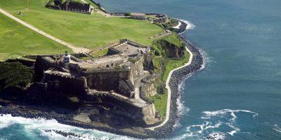Vista aérea del Morro San Juan Puerto Rico